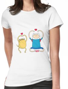 Jake and Finn Womens Fitted T-Shirt