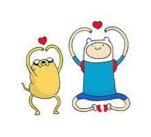 Jake and Finn Photographic Print