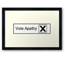 Vote Apathy Framed Print