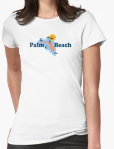 Palm Beach - Florida.  Womens Fitted T-Shirt