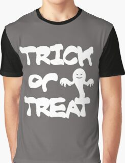 TRICK OR TREAT GHOST Graphic T-Shirt