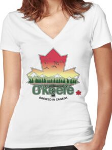 O'Keefe Brewery - Brewed in Canada Women's Fitted V-Neck T-Shirt