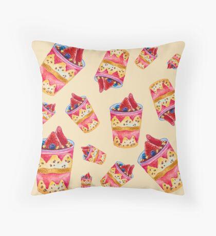 Watercolor Ice Cream Throw Pillow