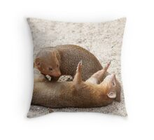 Dwarf mongoose Throw Pillow