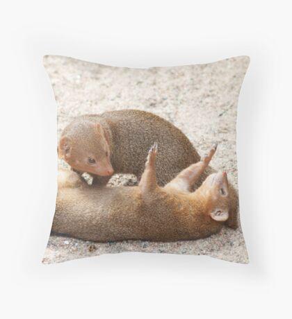 Dwarf mongoose Throw Pillow