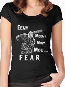EENY MEENY MINY MOE NEGAN COMING Women's Fitted Scoop T-Shirt