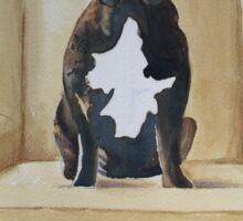 Jimmy French bulldog with attitude Sticker