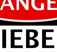DANGER BIEBER FAN FAKE FUNNY SAFETY SIGN SIGNAGE Sticker