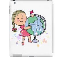 Sports girl globe cartoon iPad Case/Skin