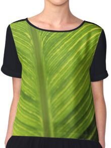 Leafy Green Tranquility  Women's Chiffon Top