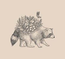 Cute raccoon with flowers and butterfly Unisex T-Shirt