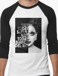 Bianca Del Rio Text Portrait Men's Baseball ¾ T-Shirt
