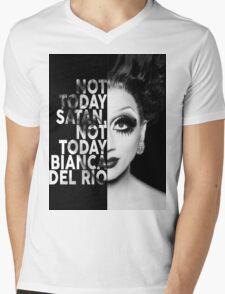 Bianca Del Rio Text Portrait Mens V-Neck T-Shirt