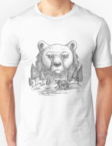 Bear and forest Unisex T-Shirt