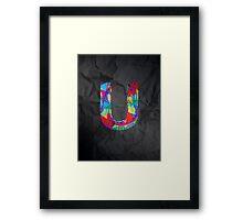 Fun Letter - U Framed Print
