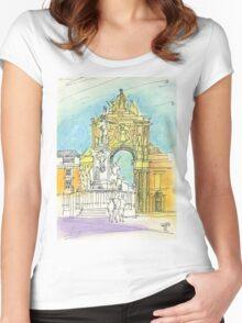 Terreiro do Paço. Women's Fitted Scoop T-Shirt