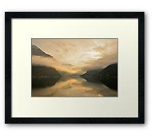 Fjord Mist Framed Print