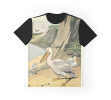 P is for Pelican - French Alphabet Animals Graphic T-Shirt