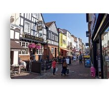 Butcher Row, Salisbury, Wiltshire, United Kingdom. Canvas Print