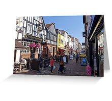 Butcher Row, Salisbury, Wiltshire, United Kingdom. Greeting Card