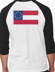 Stars & Bars, USA, America, First American National Flag, 9 stars, 1861 Men's Baseball ¾ T-Shirt