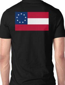 Stars & Bars, USA, America, First American National Flag, 9 stars, 1861 Unisex T-Shirt