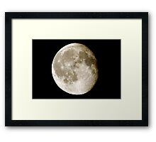 cratered moon Framed Print