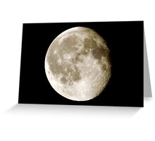 cratered moon Greeting Card