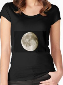 cratered moon Women's Fitted Scoop T-Shirt