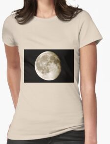 cratered moon Womens Fitted T-Shirt