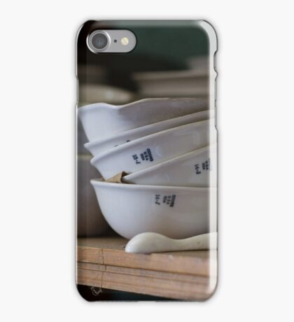 Abandoned Science Lab Porcelain Testing Equipment  iPhone Case/Skin