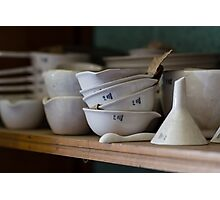 Abandoned Science Lab Porcelain Testing Equipment  Photographic Print