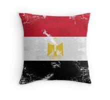 Egypt Vintage Flag Throw Pillow
