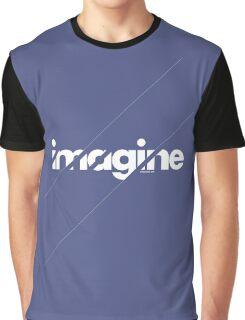 Imagine under stripes /// white version Graphic T-Shirt