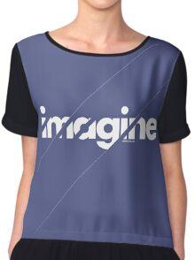 Imagine under stripes /// white version Chiffon Top