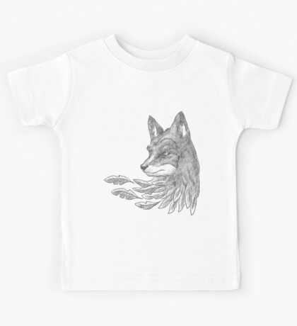 Wolf with leaves Kids Tee