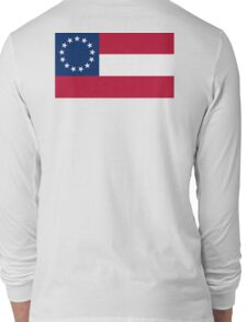 Stars & Bars, USA, America, First American National Flag, 13 stars, 1861 Long Sleeve T-Shirt