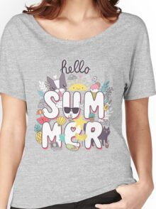 Hello Summer Women's Relaxed Fit T-Shirt