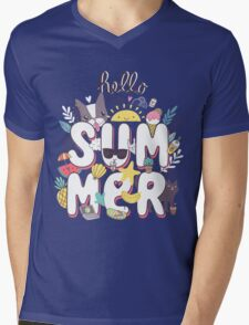 Hello Summer Mens V-Neck T-Shirt