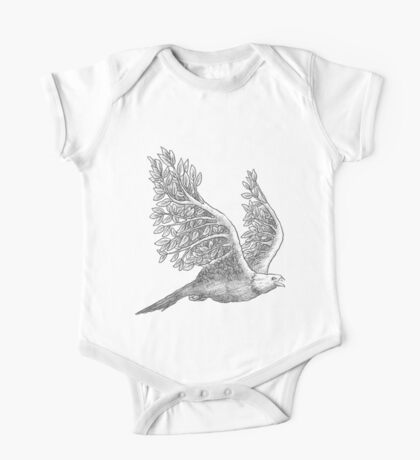 Majestic eagle with branches One Piece - Short Sleeve