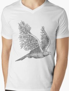 Majestic eagle with branches Mens V-Neck T-Shirt