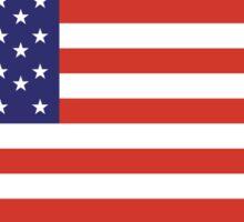 American Flag, America, Stars & Stripes, USA, Americana, Pure & Simple, on BLACK Sticker