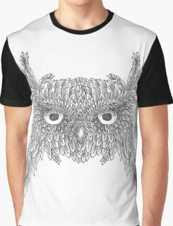 Owl made up of leaves Graphic T-Shirt