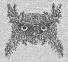 Owl made up of leaves Kids Tee