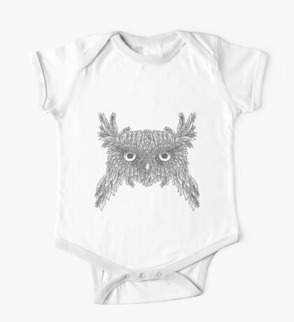 Owl made up of leaves One Piece - Short Sleeve