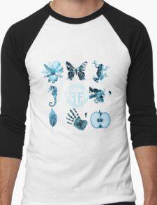 Fringe Glyphs with Division symbol Men's Baseball ¾ T-Shirt