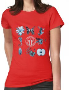 Fringe Glyphs with Division symbol Womens Fitted T-Shirt
