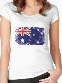 Australia Vintage Flag Women's Fitted Scoop T-Shirt