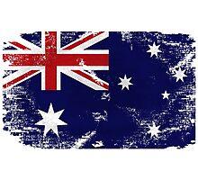 Australia Vintage Flag Photographic Print
