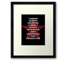 The Winter Soldier Ready to Comply Framed Print